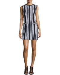 Carven Fancy Striped Tweed Woven Dress - Lyst