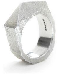 Fraser Hamilton Pyramid Ring - Metallic
