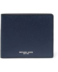 Michael Kors - Harrison Grained-leather Billfold Wallet - Lyst