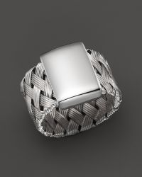 Roberto Coin Sterling Silver Woven Ring - Lyst