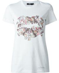 Markus Lupfer Rose Jigsaw T-shirt - Lyst