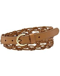 Fossil Woven Leather Belt - Lyst