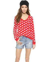 Wildfox Little Hearts Pullover - Holiday - Lyst