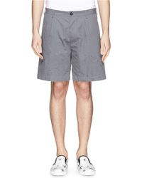 Mauro Grifoni - Paint Splash Print Cotton Shorts - Lyst
