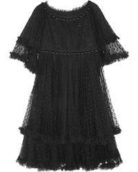 Dolce & Gabbana Tiered Point D'Esprit Dress - Lyst