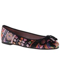 Pretty Ballerinas Sequined Bow Ballerinas - Lyst