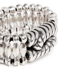 Philippe Audibert 'Ethan' Rope Bead Elastic Bracelet silver - Lyst