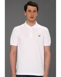 Fred Perry Slim Fit Solid Plain Polo - Lyst