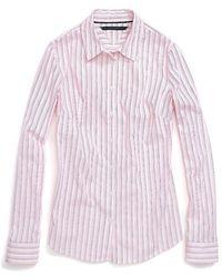 Tommy Hilfiger Multi Stripe Stretch Shirt - Lyst