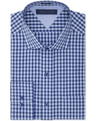 Tommy Hilfiger Easy Care Blue-On-Blue Gingham Dress Shirt - Lyst