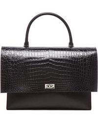 Givenchy - Large Shark Lock Stamped Croc Bag - Lyst