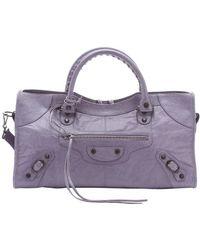 Balenciaga Lilac Leather 'Part Time' Large Satchel purple - Lyst
