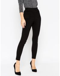 ASOS | High Waist Trousers In Skinny Fit | Lyst