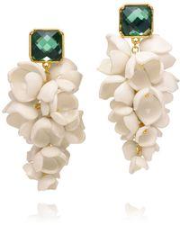 Tory Burch - Anais Grape Flower Earring - Lyst