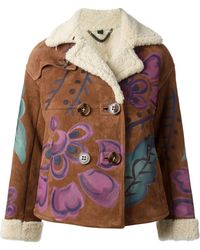Burberry Prorsum Brown Hand-painted Jacket - Lyst