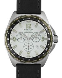Filson - 44mm Journeyman Gmt Watch With Leather Strap - Lyst