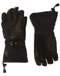 Spyder - 'omega Conduct' Leather Trim Tech Ski Gloves - Lyst
