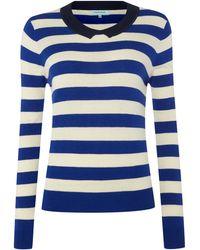 Dickins & Jones Ladies Stripe Collar Jumper - Lyst