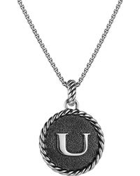 David Yurman Cable Collectibles Initial Charm - Black