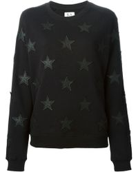 Zoe Karssen Star Patches Cotton Sweatshirt - Lyst