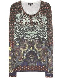 Etro Printed Silk and Cashmere Sweater - Lyst