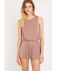 Silence + Noise Too Twisted Playsuit - Pink