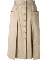 Yves Saint Laurent Vintage A-Line Skirt beige - Lyst