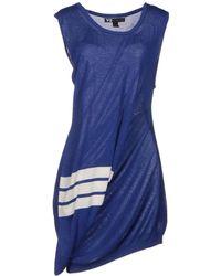 Y-3 Blue Short Dress - Lyst