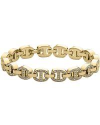 Michael Kors Gold-tone Embellished Maritime Links Bracelet - Lyst