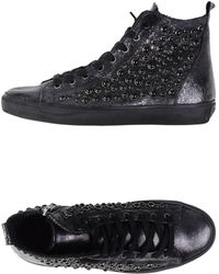 Leather Crown High-Tops & Trainers gray - Lyst