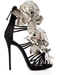 Giuseppe Zanotti Open Toe Platform Evening Sandals - Coline Flower High Heel - Lyst