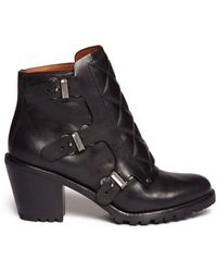 Marc By Marc Jacobs Quilted Triple Monk Strap Ankle Boots - Lyst