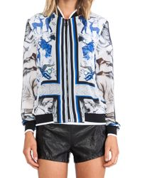 Clover Canyon - Marble Party Chiffon Bomber Jacket - Lyst