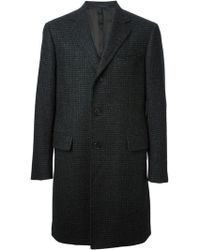 Lanvin Checked Coat - Lyst
