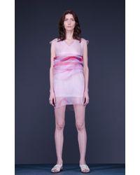 Marchi Organza Print Mini Dress - Lyst