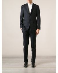 Z Zegna Fitted Twopiece Suit - Lyst