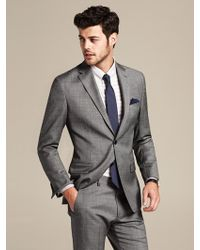 Banana Republic Tailored Fit Grey Micro Dot Wool Suit Jacket Grey - Lyst