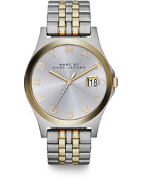 Marc By Marc Jacobs Henry Slim Two-Tone Stainless Steel Bracelet Watch - Lyst