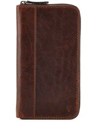 Frye Logan Leather Travel Wallet - Lyst