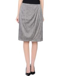 Giorgio Armani Knee Length Skirt gray - Lyst