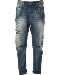 Diesel Distressed Straight Jeans - Lyst