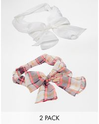 Asos 2 Pack Check Headscarf - Lyst