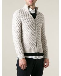 Etro Cable Knit Zipped Cardigan - Lyst