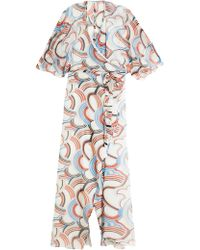 Paul & Joe Silk Printed Gown multicolor - Lyst