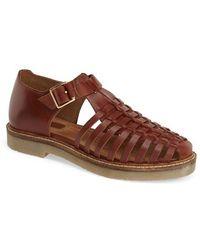 Topshop 'King' Huarache Sandal brown - Lyst