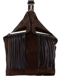 Costume National Cocoa Suede Fringed Backpack - Lyst