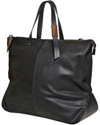 Giuseppe Zanotti Crust Leather Travel Duffle Bag - Black