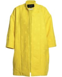 Paper London Yellow Mico Summer Cocoon Coat By - Lyst