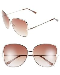 BCBGMAXAZRIA   63mm Butterfly Sunglasses   Lyst