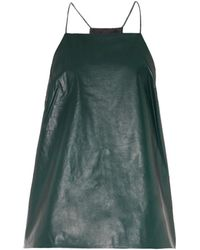 Tibi Leather And Silk Camisole - Lyst